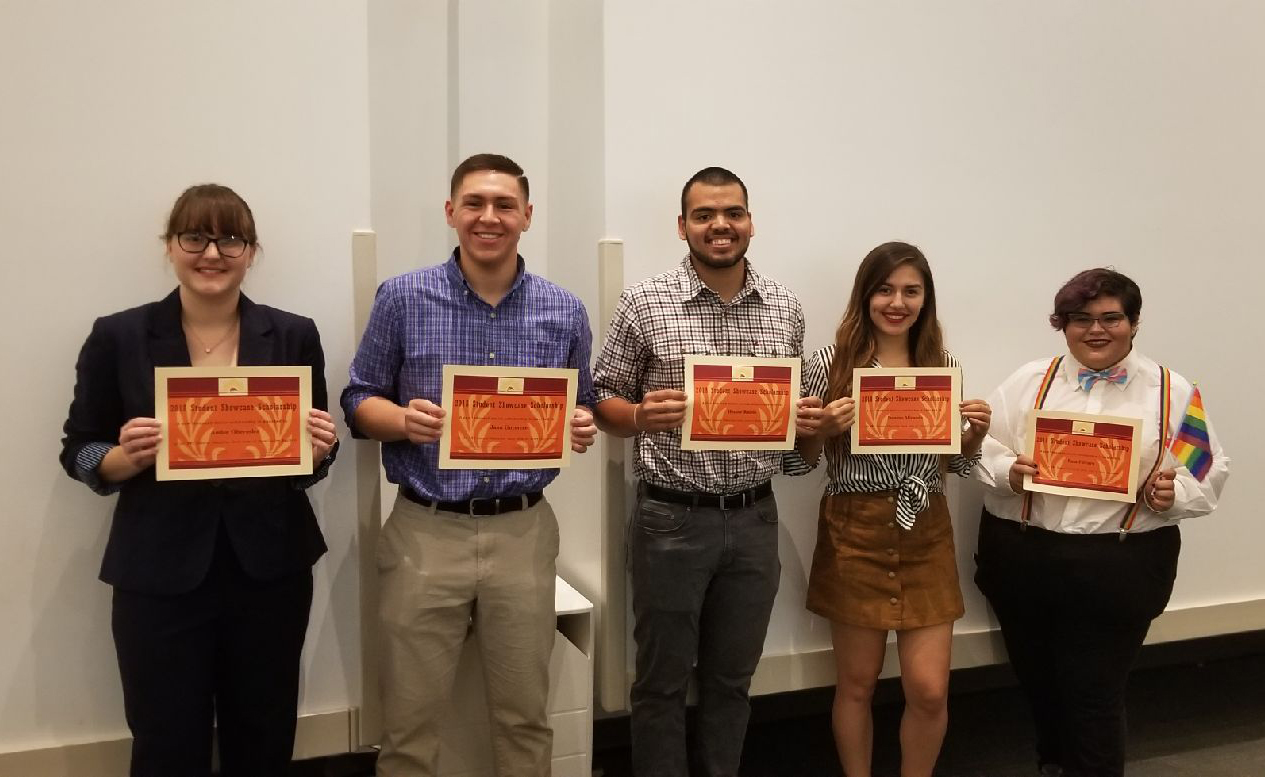 Winners of the 2018 Student Showcase received a total of $5,000 in scholarships for their creative work.