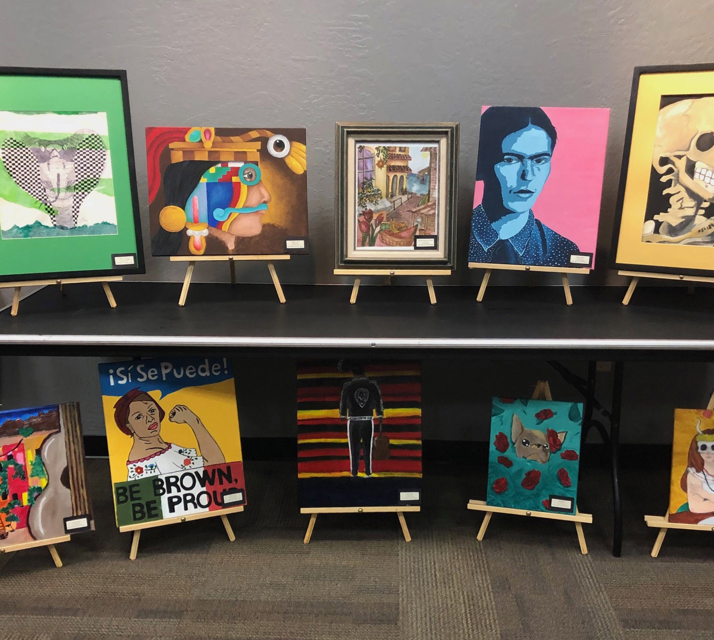 Various paintings of Mexican figures and themes.