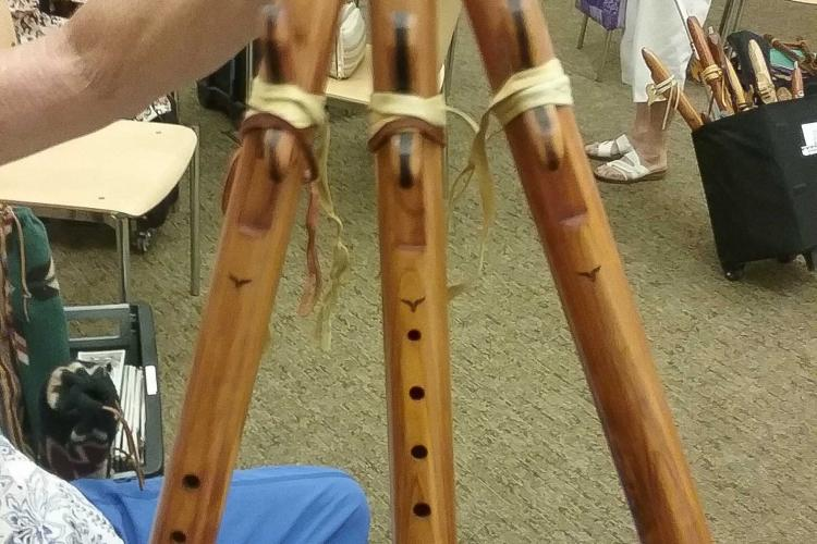 A flute with three tubes.